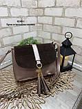Клатч комбинированный нат.замша/кожзам качество люкс арт.0240-1, фото 9