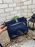 Клатч комбинированный нат.замша/кожзам качество люкс арт.0240-1, фото 6