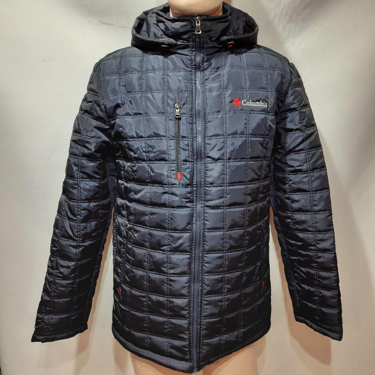 Мужская зимняя куртка (Больших размеров) на кашемире Турция Темно-синяя