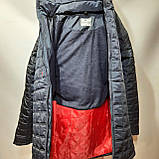 Мужская зимняя куртка (Больших размеров) на кашемире Турция Темно-синяя, фото 2