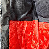 Мужская зимняя куртка (Больших размеров) на кашемире Турция Темно-синяя, фото 3
