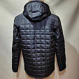 Мужская зимняя куртка (Больших размеров) на кашемире Турция Темно-синяя, фото 4