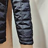 Мужская зимняя куртка (Больших размеров) на кашемире Турция Темно-синяя, фото 5