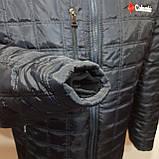 Мужская зимняя куртка (Больших размеров) на кашемире Турция Темно-синяя, фото 6
