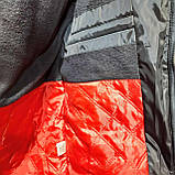 Мужская зимняя куртка (Больших размеров) на кашемире Турция Темно-синяя, фото 7