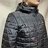 Мужская зимняя куртка (Больших размеров) на кашемире Турция Темно-синяя, фото 8