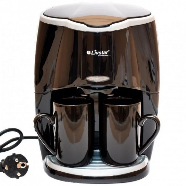 Капельная кофеварка с двумя чашками Livstar LSU-1190