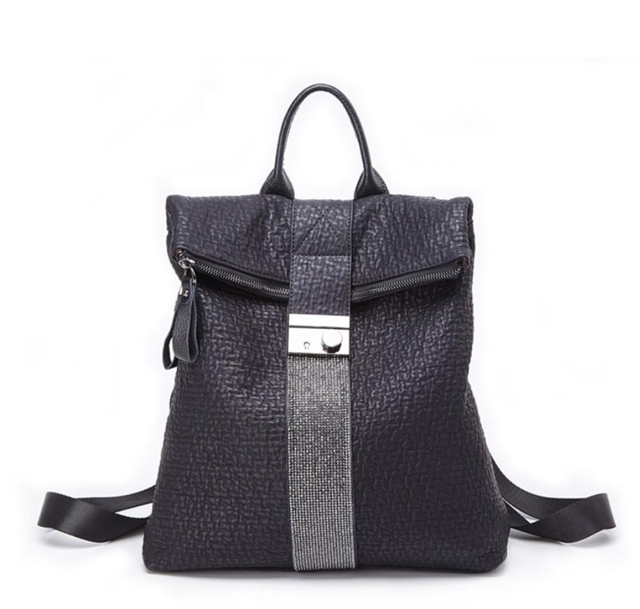 Рюкзак женский городской rolltop Макрос B7207 15л черный