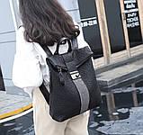 Рюкзак женский городской rolltop Макрос B7207 15л черный, фото 3