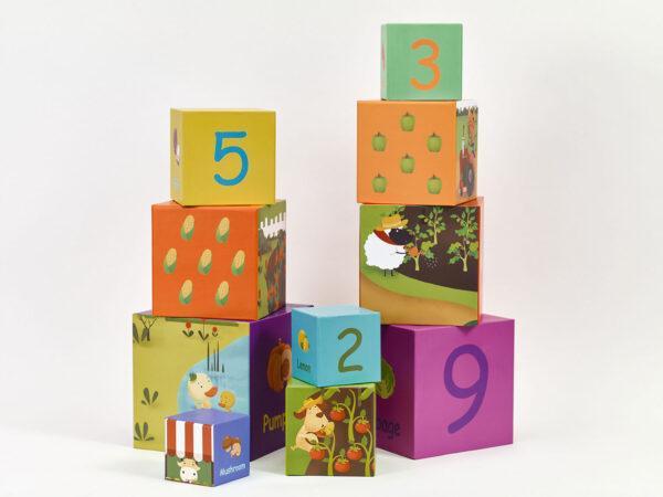 Кубики Трансформер Башня Овощи Classic World 20028