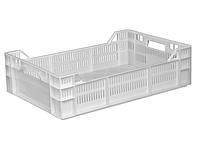 Ящики пластиковые сплошное дно 600 x 400 x 160 / 120 Белый (первичный)
