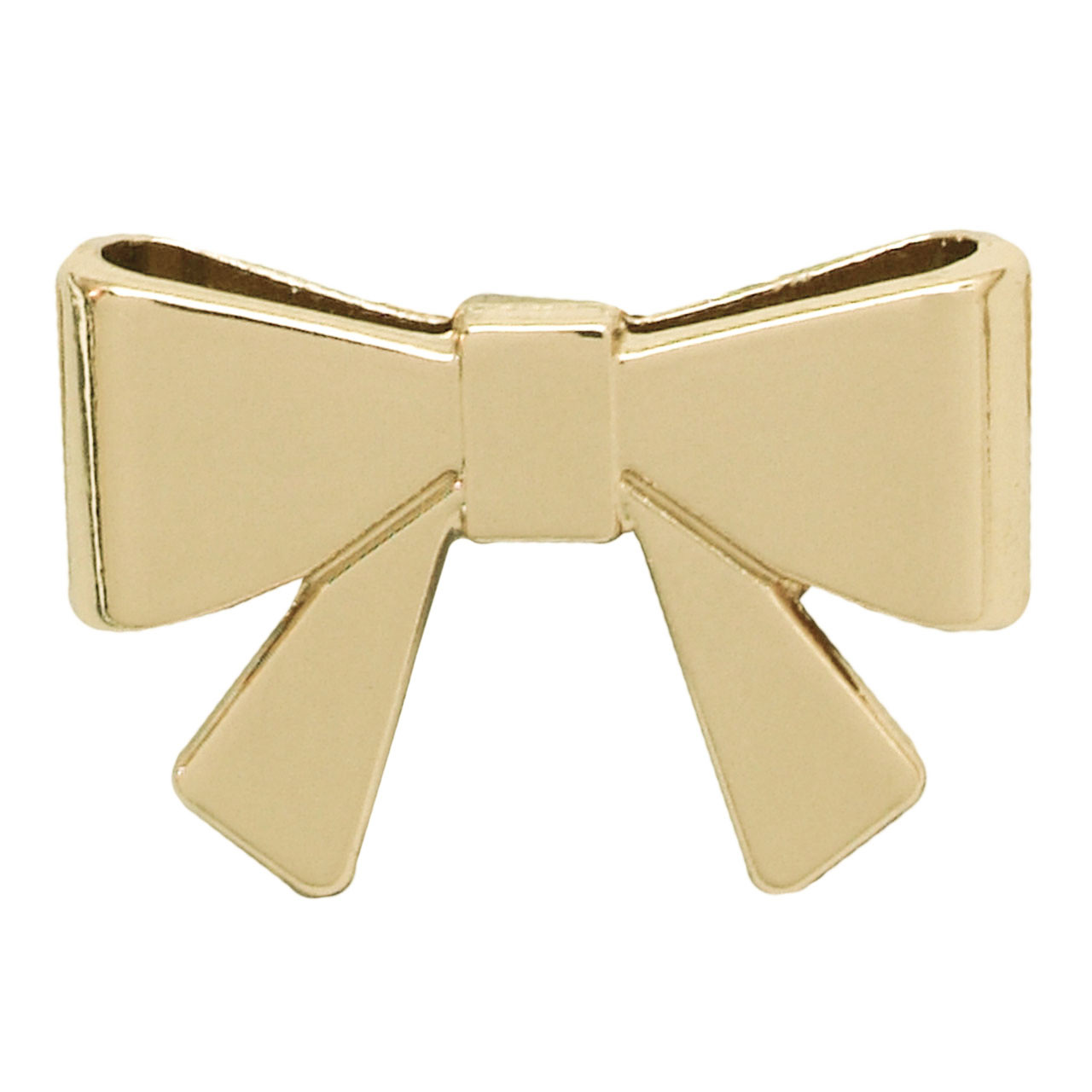 Пряжка галстук-бабочка 2,5х1,6 см золото