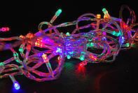 Світлодіодна ялинкова гірлянда на 300 лампочок LED, різнокольорові лампочки мульти, 13 м