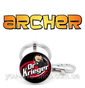 "Брелок Спецагент Арчер ""Dr. Krieger"" / Archer"