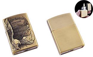 Зажигалка карманная Harley-Davidson (Обычное пламя) №4910 Gold
