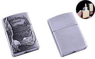 Зажигалка карманная Harley-Davidson (Обычное пламя) №4910 Silver
