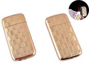 Зажигалка подарочная сувенирная в подарок оригинальная для мужчины карманная Classic (Турбо пламя) №4911 Gold