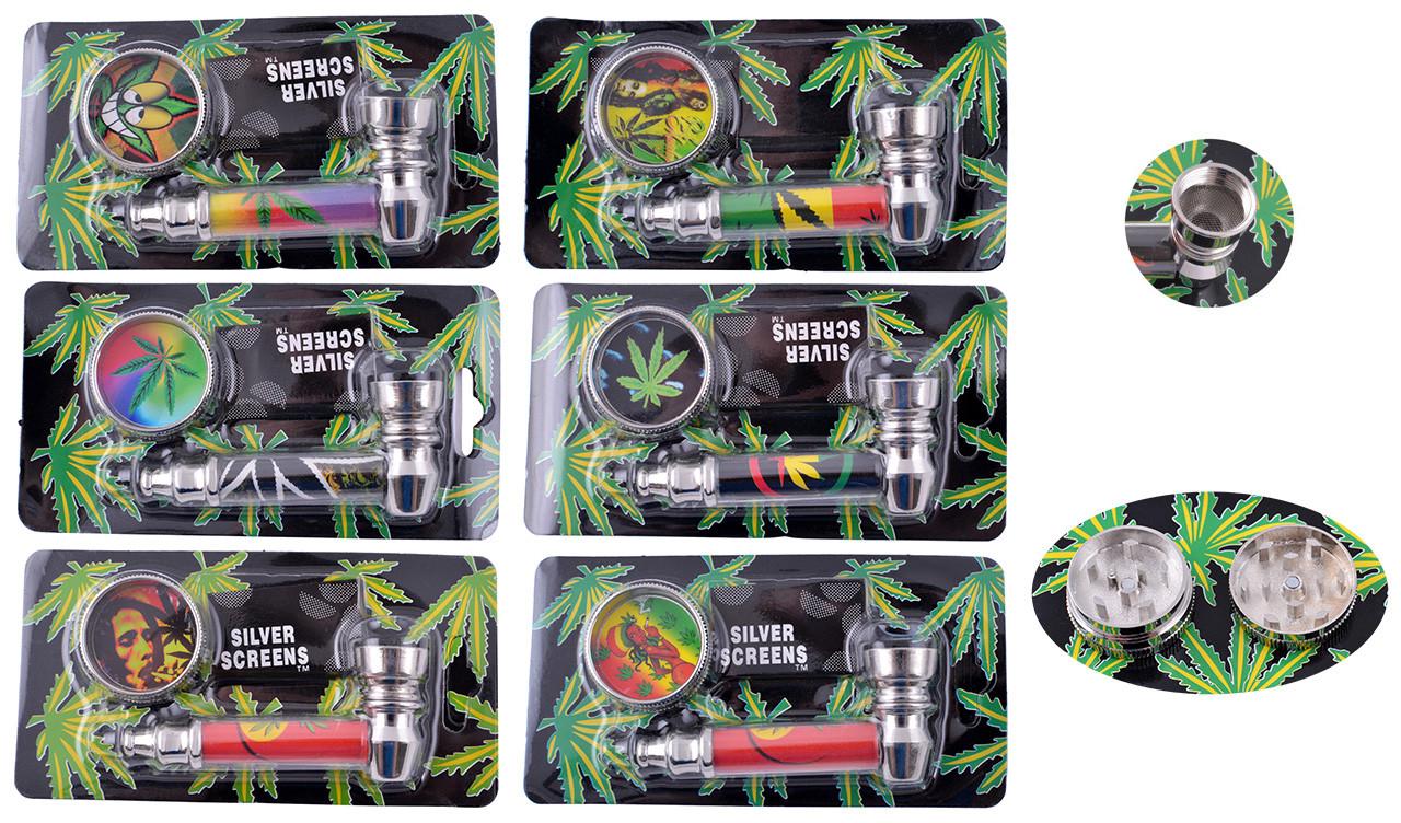 Трубка для курения трубки курительные и мундштуки сувенир оригинальный подарок + Гриндер Металл №HL-YD-305