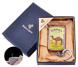Зажигалка-брелок в подарочной коробке CAMEL (Острое пламя) №XB-8-2