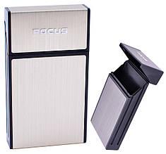 Портсигар подарунок для сигарет компактний на 10 сигарет FOCUS №HL-151 Gold
