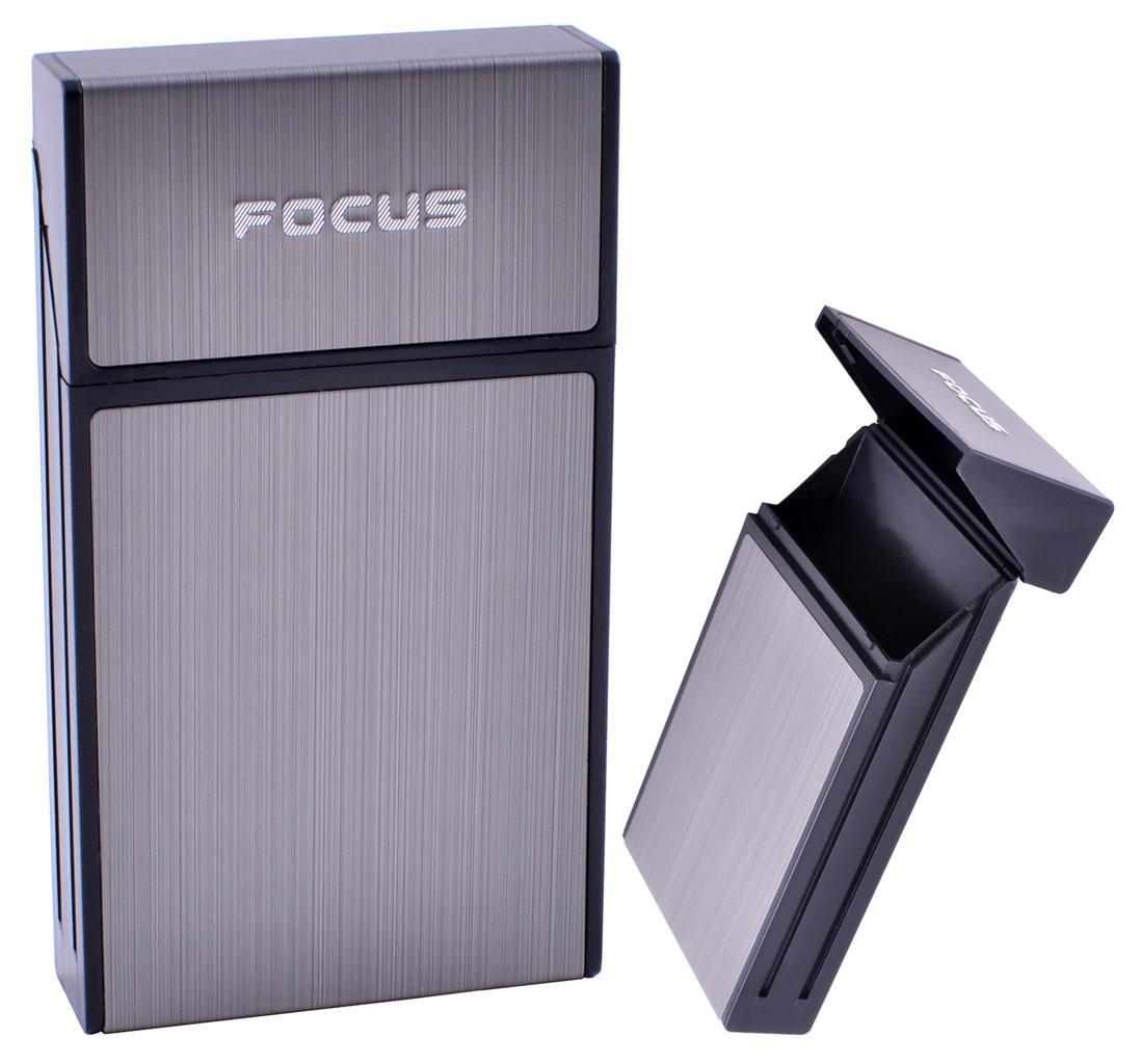 Портсигар металлический компактный подарочный подарок для сигарет компактный  на 10 сигарет FOCUS №HL-151