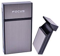 Портсигар подарунок для сигарет компактний на 10 сигарет FOCUS №HL-151 Black
