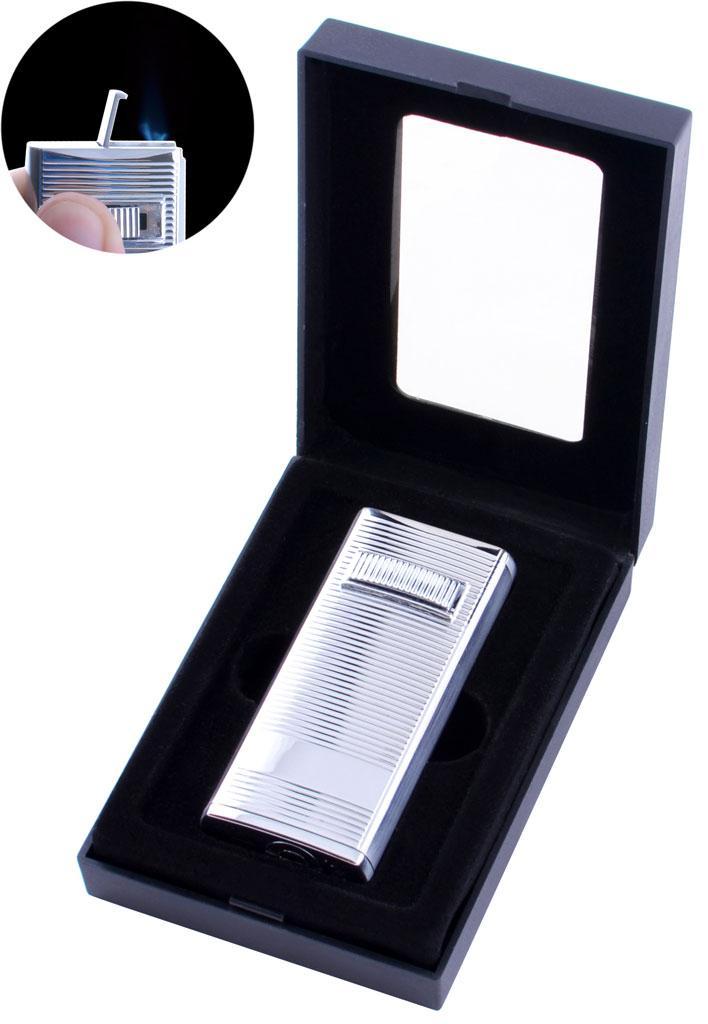 Зажигалка электронная в подарочной коробке (Турбо пламя) №1768