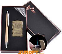 Сувенирные подарочные наборы готовые оригинальные ручка, зажигалка Острое пламя №BX-002A