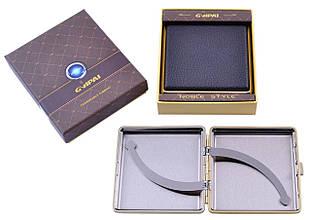 Портсигар подарунок для сигарет компактний в подарунковій упаковці GVIPAI (Шкіра, 20 шт) №XT-4986-3