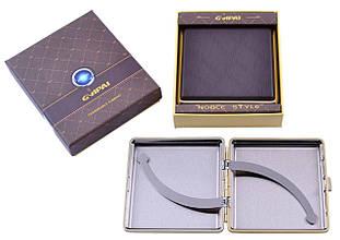 Портсигар подарунок для сигарет компактний в подарунковій упаковці GVIPAI (Шкіра, 20 шт) №XT-4986-4