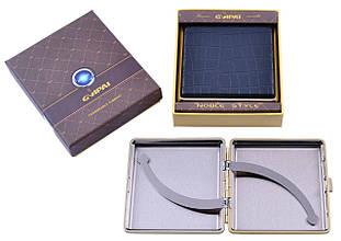 Портсигар подарунок для сигарет компактний в подарунковій упаковці GVIPAI (Шкіра, 20 шт) №XT-4986-5