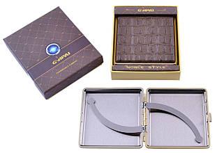 Портсигар подарок для сигарет компактный в подарочной упаковке GVIPAI (Кожа, на 20 шт) №XT-4986-6