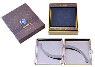Портсигар подарунок для сигарет компактний в подарунковій упаковці GVIPAI (Шкіра, 20 шт) №XT-4986-7