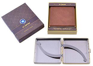 Портсигар подарунок для сигарет компактний в подарунковій упаковці GVIPAI (Шкіра, 20 шт) №XT-4986-9