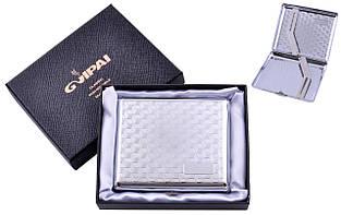 Портсигар подарунок для сигарет компактний класичний на 20 сигарет в подарунковій коробці №4375-2