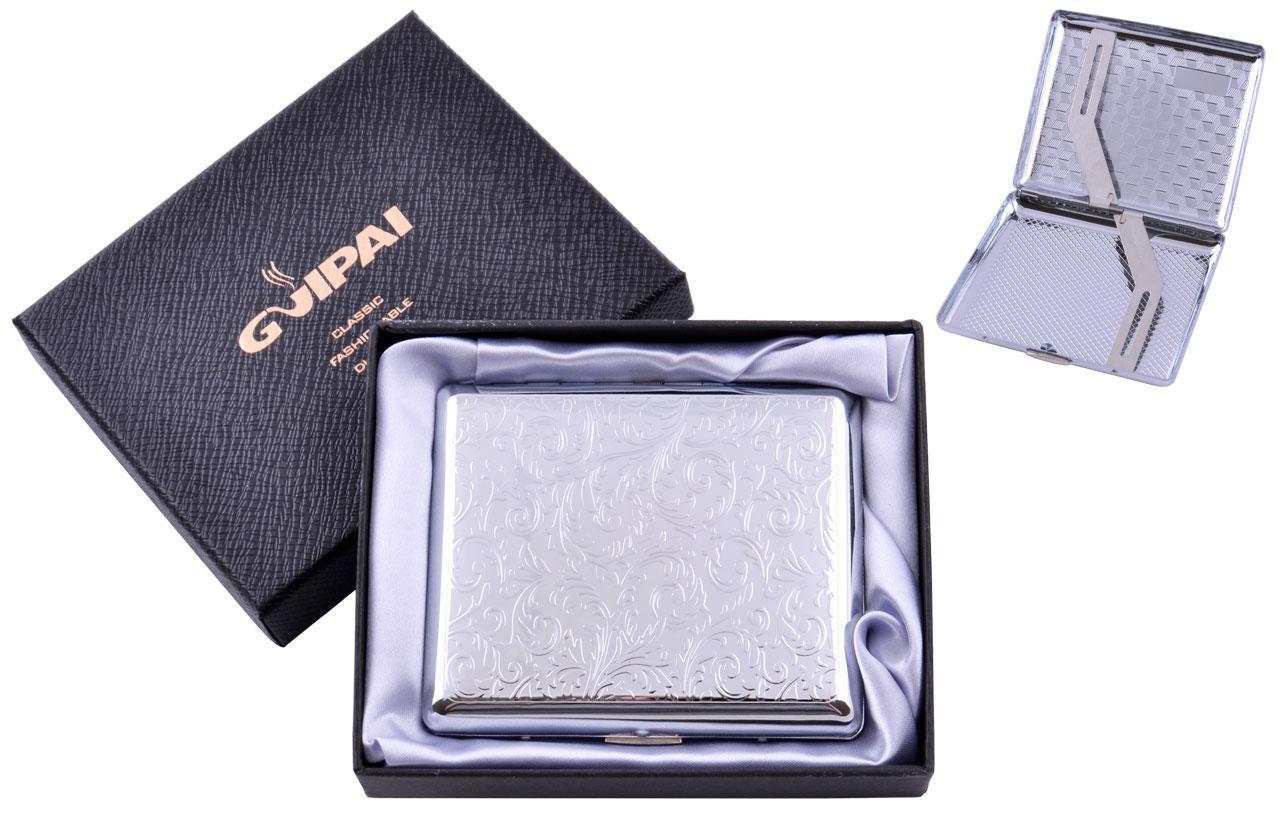 Портсигар металлический компактный подарочный подарок для сигарет компактный  классический на 20 сигарет в