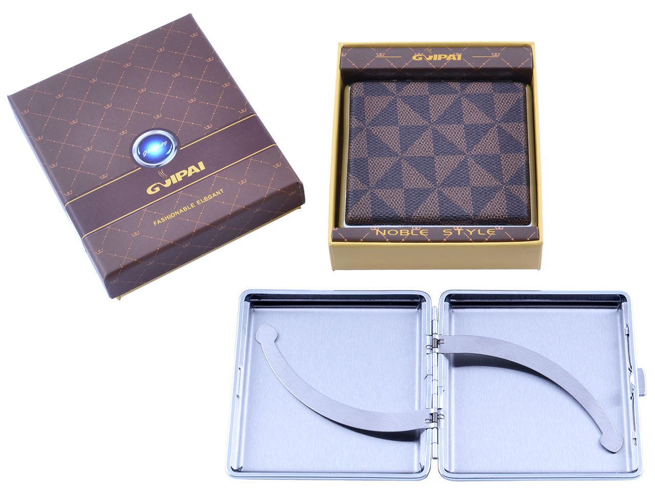Портсигар металлический компактный подарочный подарок для сигарет компактный  в подарочной упаковке GVIPAI