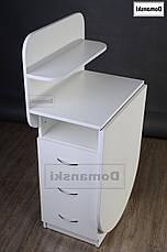 Маникюрный стол с ящиками и полкой для лаков., фото 2