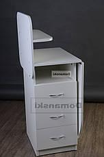 Маникюрный стол с ящиками и полкой для лаков., фото 3