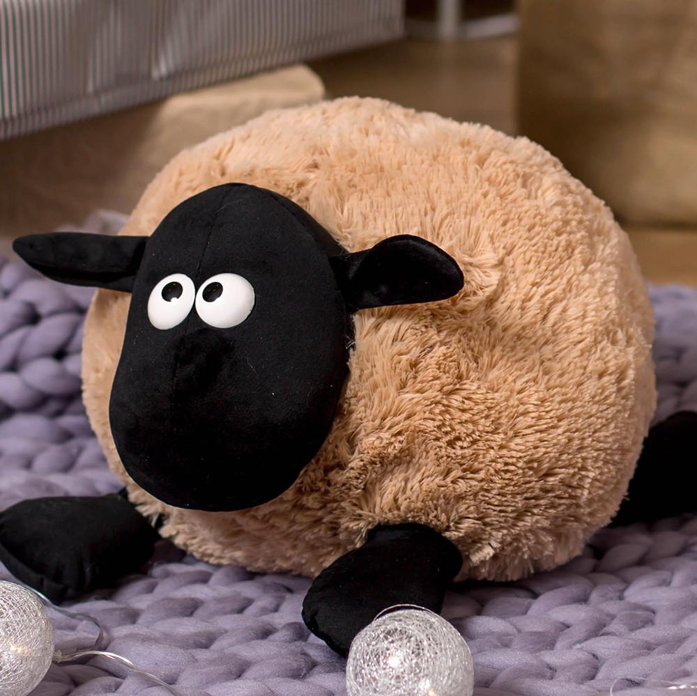 Мягкая игрушка баранчик Шон 50 см, медовый