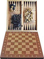 Набор 3в1 Нарды, Шахматы, Шашки (34х34 см) W7723