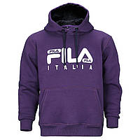 Худи осень-зима мужские фиолетовые FILA ITALIA с лого Т-2 PUR L(Р) 20-478-203