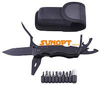 Многофункциональный складной нож для выживания охотничий мультитул с комплектом бит MS-009-G