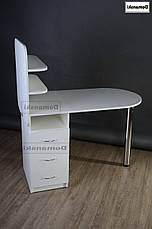 Маникюрный стол с ящиками и двумя полочками., фото 3