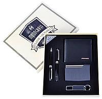 Сувенирные подарочные наборы готовые оригинальные Moongrass Портмоне Визитница Брелок Ручка №NB-053