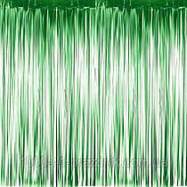 Шторка завісу з фольги для фото зон зелена 1х2 метри