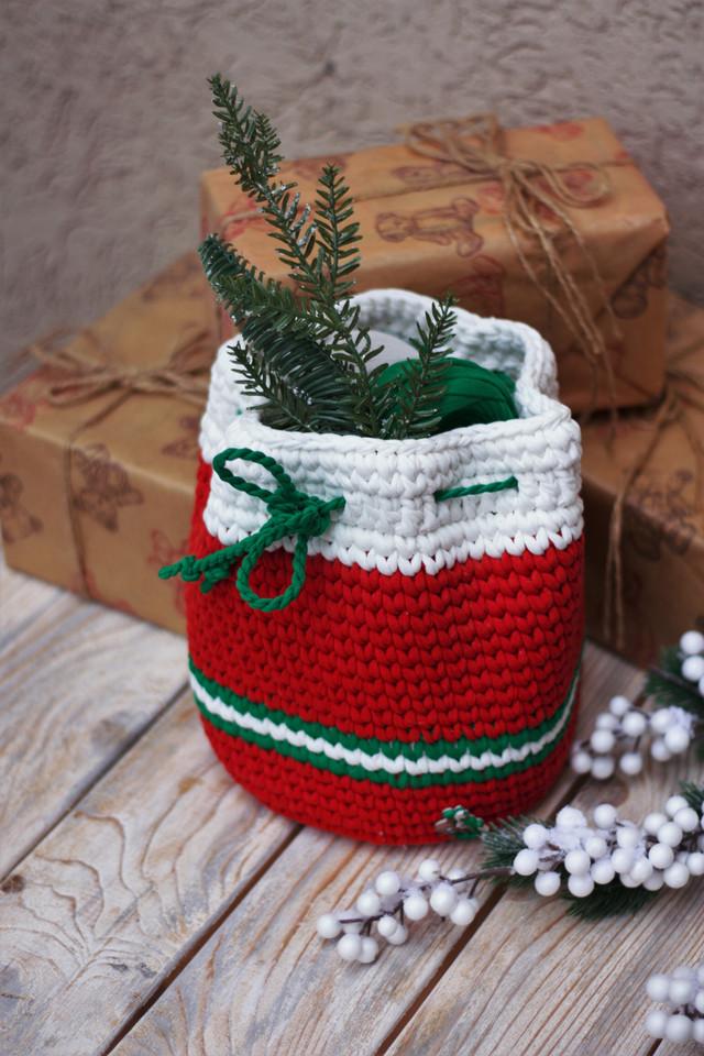 Новогодняя торбочка для подарков