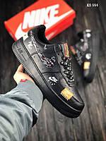 Кроссовки Nike Air Force 1 LV8 (черные) ОРИГИНАЛ, фото 1