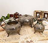 Антикварный посеребренный чайный сервиз, серебрение, Англия, Sheffield H. Land, фото 10