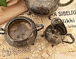 Антикварный посеребренный чайный сервиз, серебрение, Англия, Sheffield H. Land, фото 8